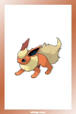 Flareon iPhone Wallpaper