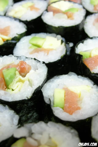 Sushi iPhone Wallpaper