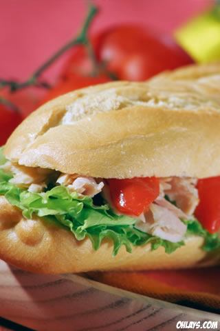 Sandwich iPhone Wallpaper