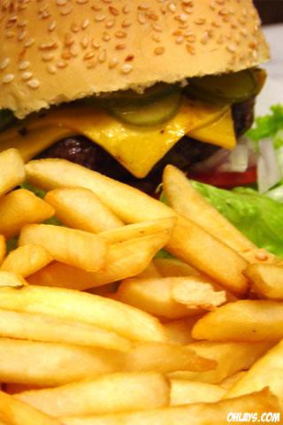 Fries iPhone Wallpaper