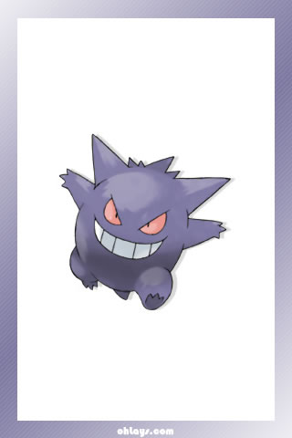 Gengar iPhone Wallpaper