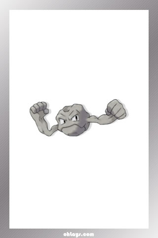 Geodude iPhone Wallpaper