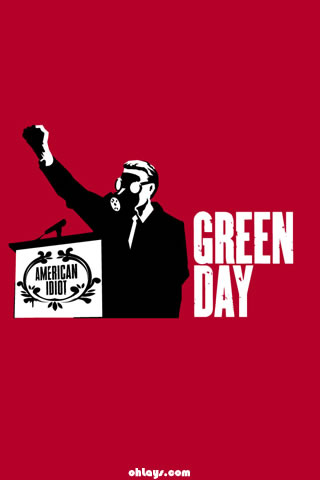 Green Day iPhone Wallpaper