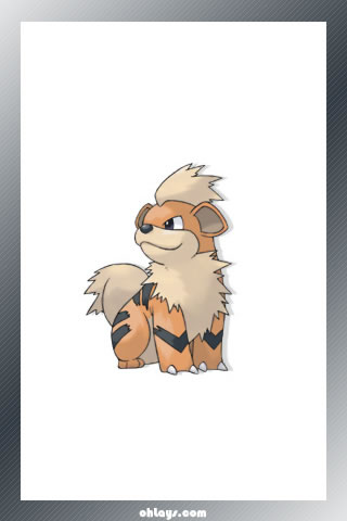 Growlithe iPhone Wallpaper