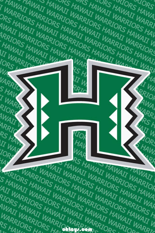 Hawaii Warriors iPhone Wallpaper