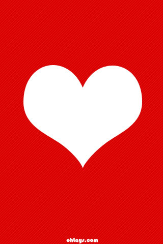Red Heart iPhone Wallpaper