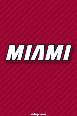 Miami Heat iPhone Wallpaper