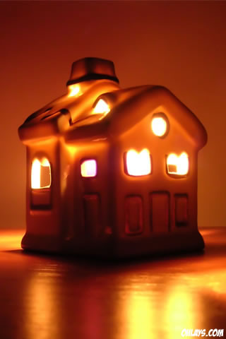 Candle House iPhone Wallpaper