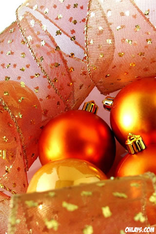 christmas ornaments iphone wallpaper