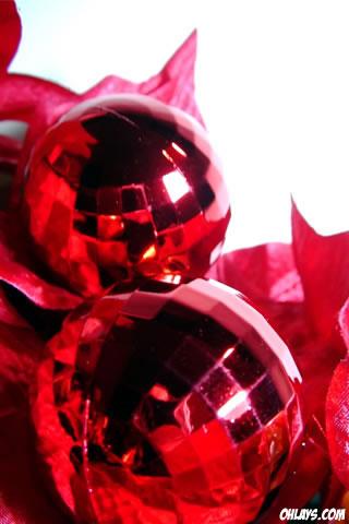 Christmas Ornaments iPhone Wallpaper