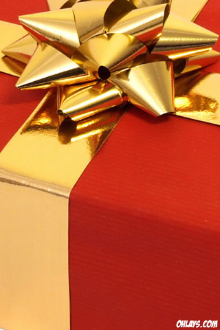 Christmas Gift iPhone Wallpaper