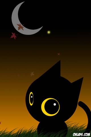 Black Cat iPhone Wallpaper