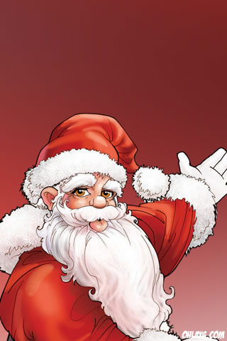 Santa iPhone Wallpaper