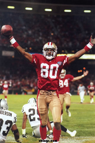 Jerry Rice iPhone Wallpaper