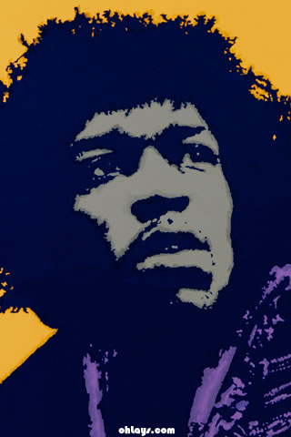 Jimi Hendrix iPhone Wallpaper