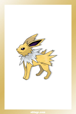 Jolteon iPhone Wallpaper