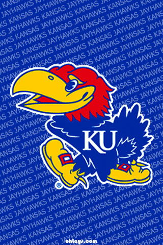 Kansas Jay Hawks iPhone Wallpaper