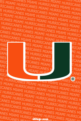 Miami Hurricanes iPhone Wallpaper