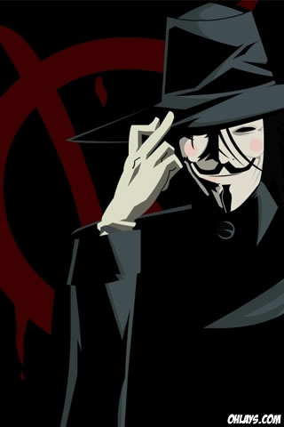 V for Vendetta iPhone Wallpaper