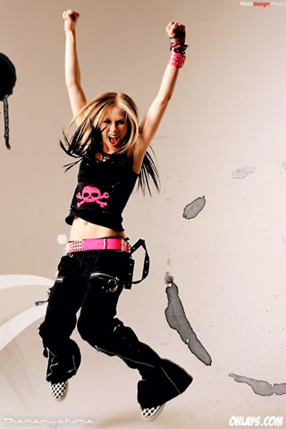 Avril Lavigne iPhone Wallpaper