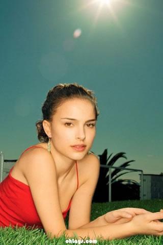Natalie Portman iPhone Wallpaper