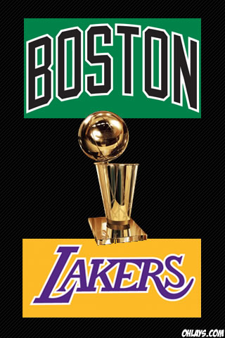 2010 NBA Finals iPhone Wallpaper