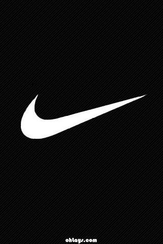 Black Nike iPhone Wallpaper