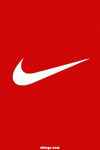 Red Nike iPhone Wallpaper