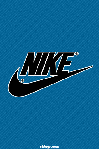 Blue Nike iPhone Wallpaper