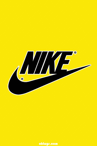 Yellow Nike iPhone Wallpaper