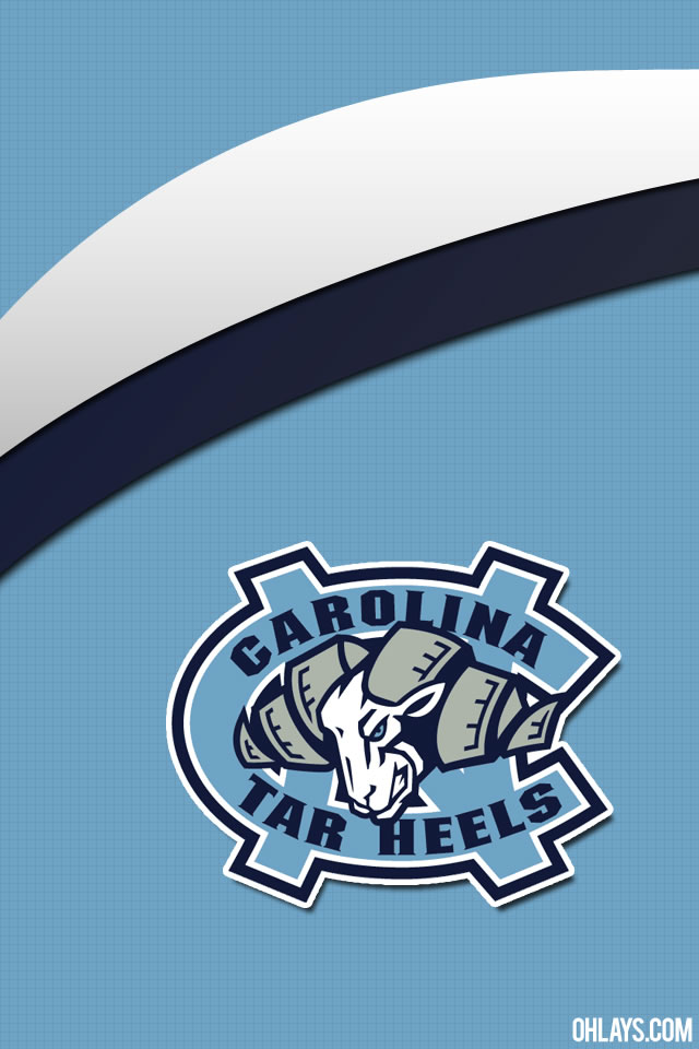 North Carolina Tarheels iPhone Wallpaper