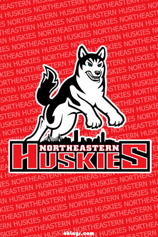 Northeastern Huskies iPhone Wallpaper