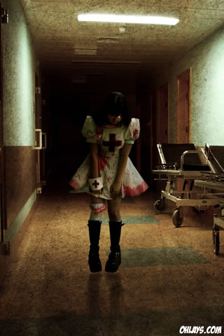 Hospital Girl iPhone Wallpaper