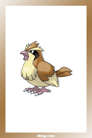 Pidgey iPhone Wallpaper
