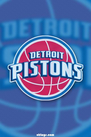 Detroit Pistons iPhone Wallpaper