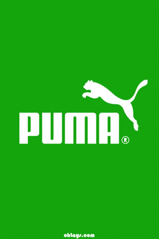 Green Puma iPhone Wallpaper