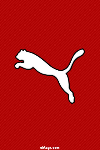 Red Puma iPhone Wallpaper
