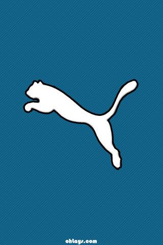 Blue Puma iPhone Wallpaper