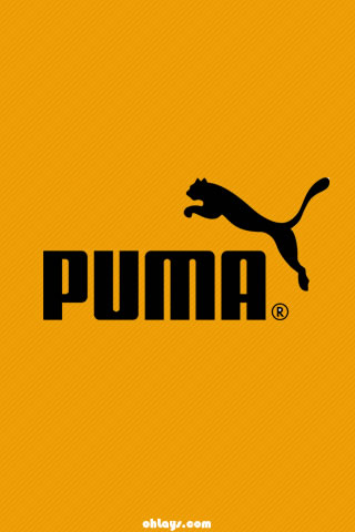 Orange Puma iPhone Wallpaper