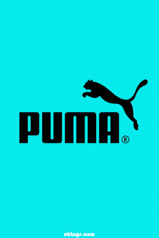 Teal Puma iPhone Wallpaper