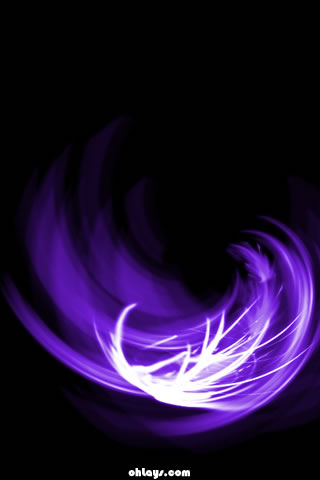 Purple Brush iPhone Wallpaper