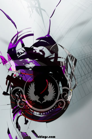 Purple Logo iPhone Wallpaper