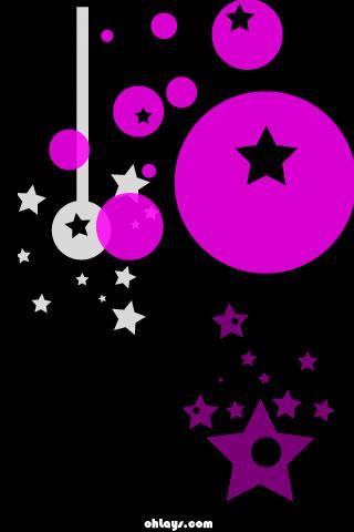 Purple Stars iPhone Wallpaper