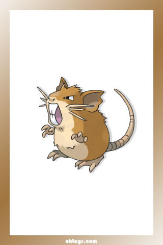 Raticate iPhone Wallpaper