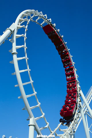 Roller Coaster iPhone Wallpaper