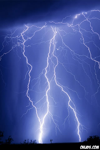 Lightning iPhone Wallpaper
