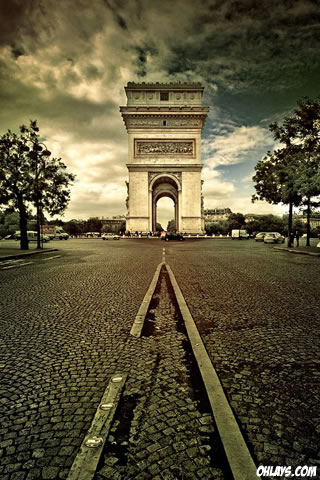 Arc de Triomph iPhone Wallpaper
