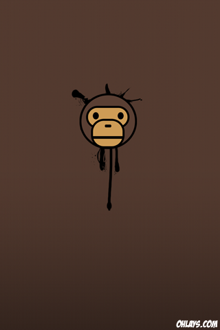 Monkey iPhone Wallpaper