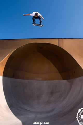 Skateboard Park iPhone Wallpaper