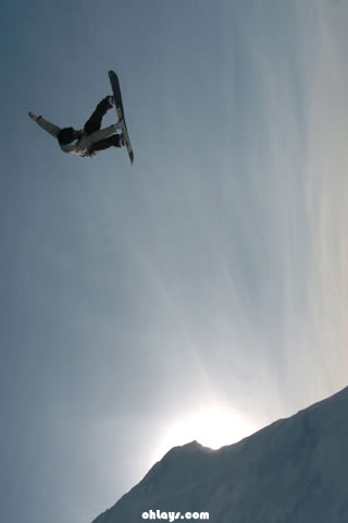 Snowboard iPhone Wallpaper